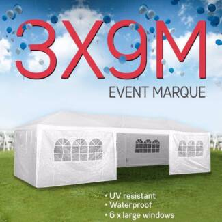 Outdoor Party and Event Marquee White 3x9m BRAND NEW
