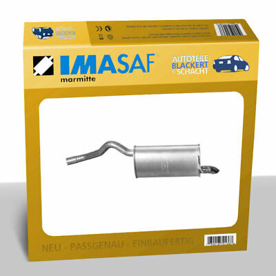IMASAF Auspuff Endtopf + Anbauteile für Opel Combo + Fiat Doblo 1.3 D 2010-