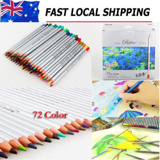 New 72Color Oil Base Marco Fine Art Drawing Non-toxic Pencils For Artist Sketch