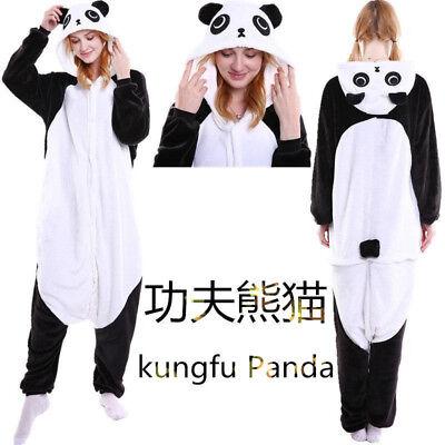 Panda Costume Adult ( Unisex Adult Pajamas Kigurumi Kongfu Panda Costume Animal Onesie01)