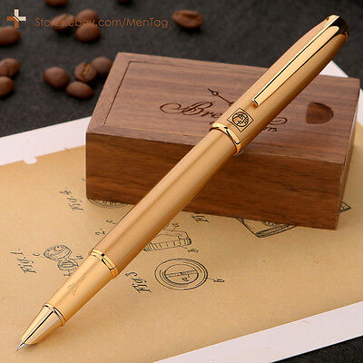 NEW Picasso Pens 916 Fountain Pen Hooded Nib Fine 0.38mm Fashion Matte Gold Body