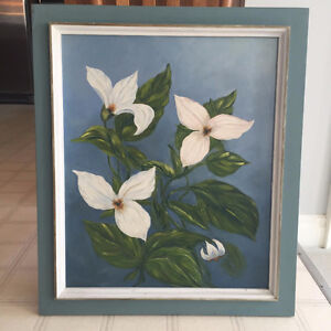 Original Acrylic Painting of Trilliums