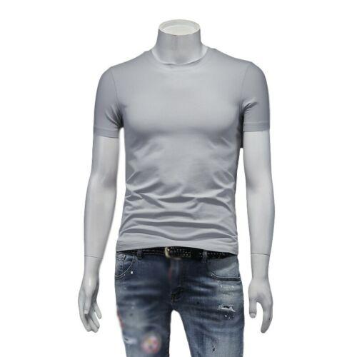 Summer Mens T-Shirt Tops Zipper Slim Fit Short Sleeve Basic Tees Plain Leisure D