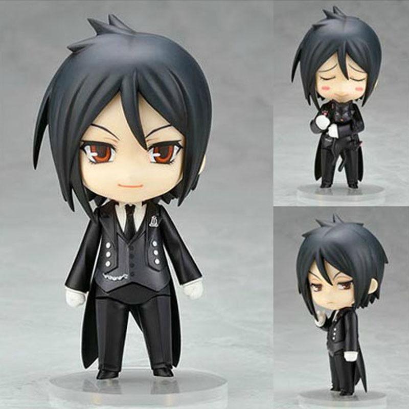 """Anime Black Butler Kuroshitsuj 4"""" Sebastian Action Figure PVC Model Doll Toy"""