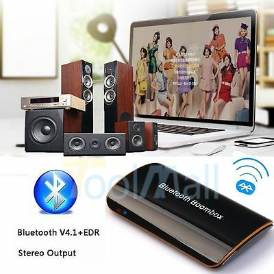 Mini Bluetooth 4.1 Audio Receiver Stereo Hi-Fi Box Adapter APTX 3.5mm/RCA Output