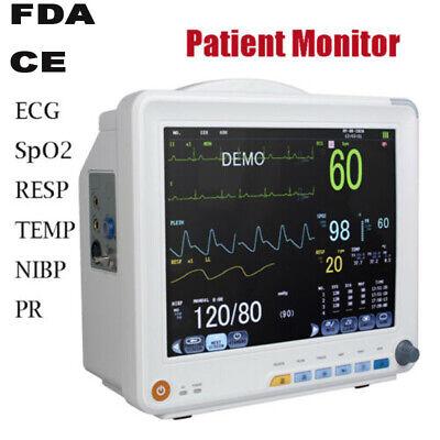 12-inch Icu Ccu 6- Parameter Patient Monitor Vital Sign Cardiac Health Monitor