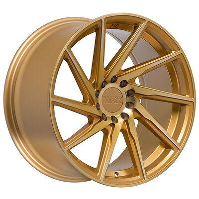 F1R F29 17x8.5 5x100 5x114.3 ET+38 Gold Civic Accord RSX TC FRS WRX Mazda3