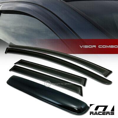 Smoke Sun Shade Window Visors+Sunroof Moon Roof Guard 5P For 15-17 Nissan -