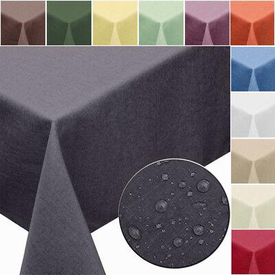 GARTENTISCHDECKE Leinen Optik Fleckschutz abwaschbar Lotus eckig rund oval - Küche Oval Tisch