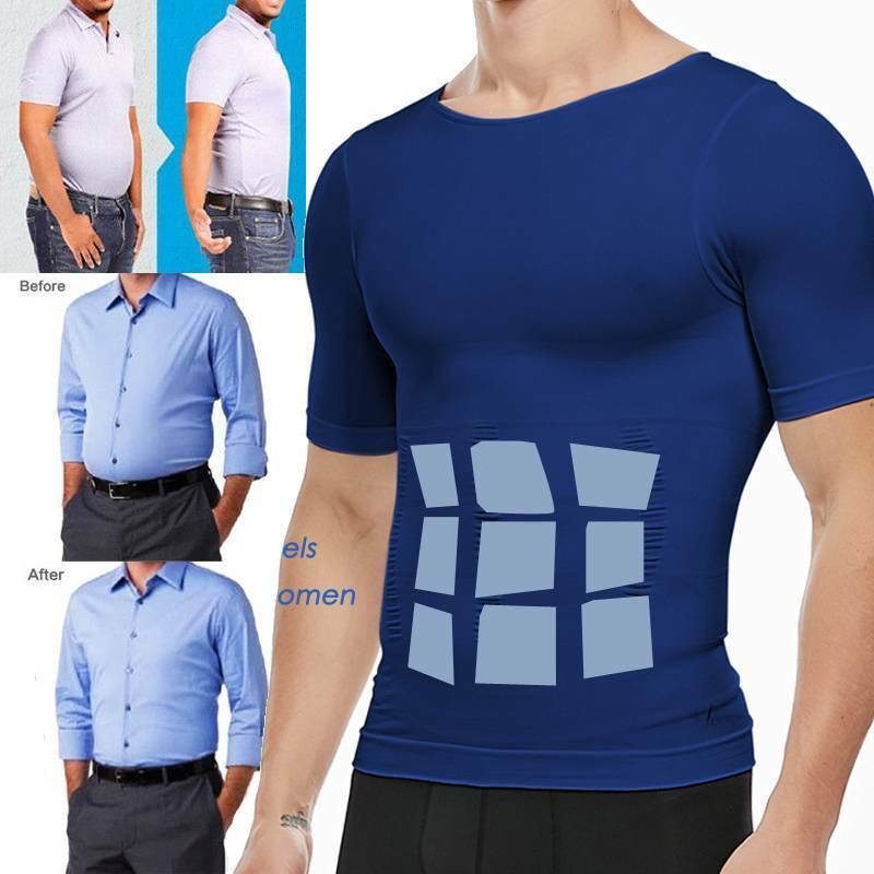 Men Underwear Tummy Compression Gynecomastia Shirt Shaping W