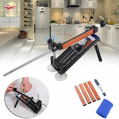 Professional Sharpening Knife Sharpener Grit Tool System Fix Angle  4 Stones Us