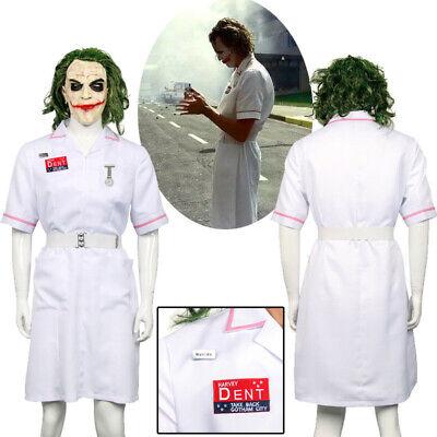 Batman Joker White Nurse Dress Uniform Outfit Cosplay Costume Halloween Party - Joker Nurse