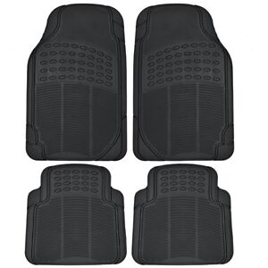 Car Matts - Heavy Duty 4-Piece Front and Rear Rubber Mats