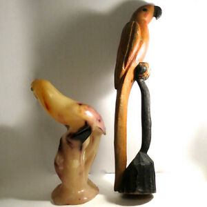 Hand Carved Parrot + Huge Parrot Candle Kitchener / Waterloo Kitchener Area image 2