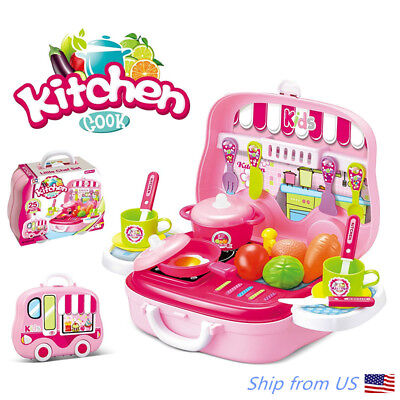 Pretend Play Kitchen Set for Kids Includes Carrying Case - Best Holiday
