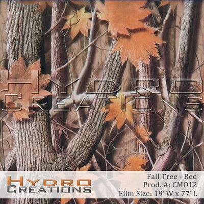 Hydrographic Film For Hydro Dipping Water Transfer Film Fall Tree Camo Orange