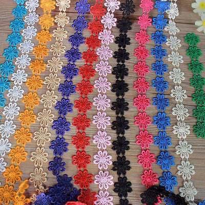 Bestickter Spitze Lace Trim DIY 1yd Daisy Blume Applique Kostüm nähen dekoriert