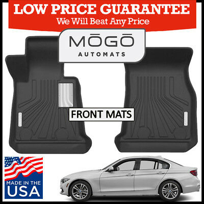 Mogo  By Husky Front Luxury Floor Mats 2012 2018 Bmw 3 Series Sedan Wagon Black