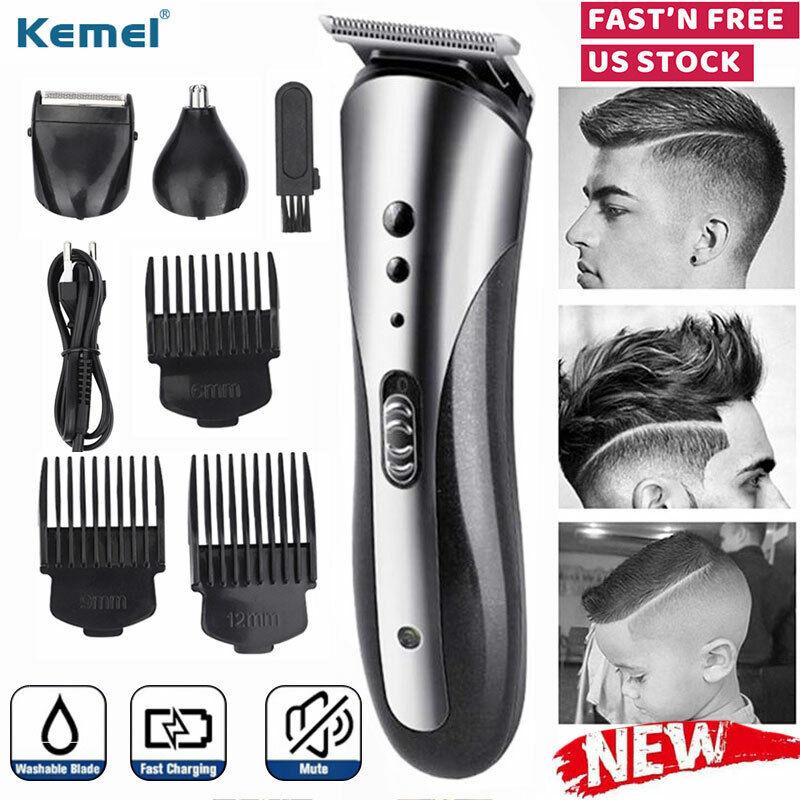 Kemei Beard Mustache Trimmer Men Wireless Nose Hair Clippers
