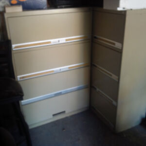 4 Drawer filing cabinets  - -  2 left