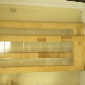 Two solid pine glass french doors