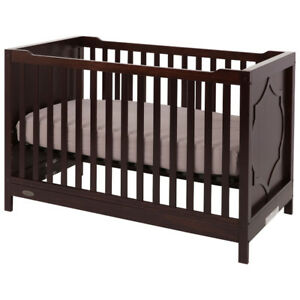 *new* Kidiway Moon 4-in-1 Convertible Crib – Espresso / Brown