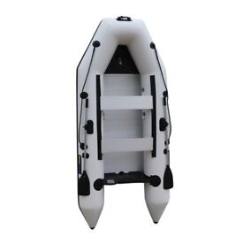 330 PRO ICE WHITE 3.3M INFLATABLE DINGHY TENDER WITH ALLOY FLOOR , OARS, PUMP, SEATS
