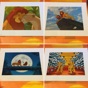 Disney's The Lion King Special Edition Lithographs - set of 4
