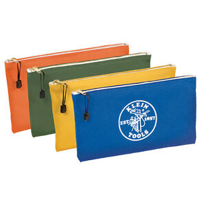 BRAND NEW Klein 5140 Canvas Zipper Bags (4 pack)