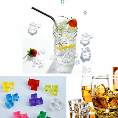 Acrylic Ice Cubes (Lot Reusable Artificial Acrylic Ice Cubes Fake Plastic Crystal)