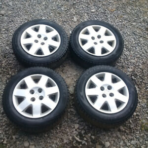 15in Honda civic rims with 185 65 15 snow tires