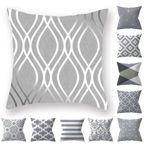 18'' Square Velvet Nordic Geometric Cushion Cover Throw Pill