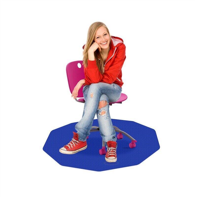 """CraftTex 9Mat  Chair Mat for Carpet  Blue 38"""" x 39"""""""