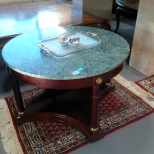 Oriental Marble Round Side Table Only $150!