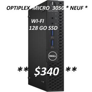 ORDINATEUR DELL OPTIPLEX MICRO 3050 - i3 7E G- 4 Go -128 GO  SSD