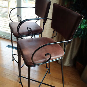 Two bar chairs from Pier One excellent condition