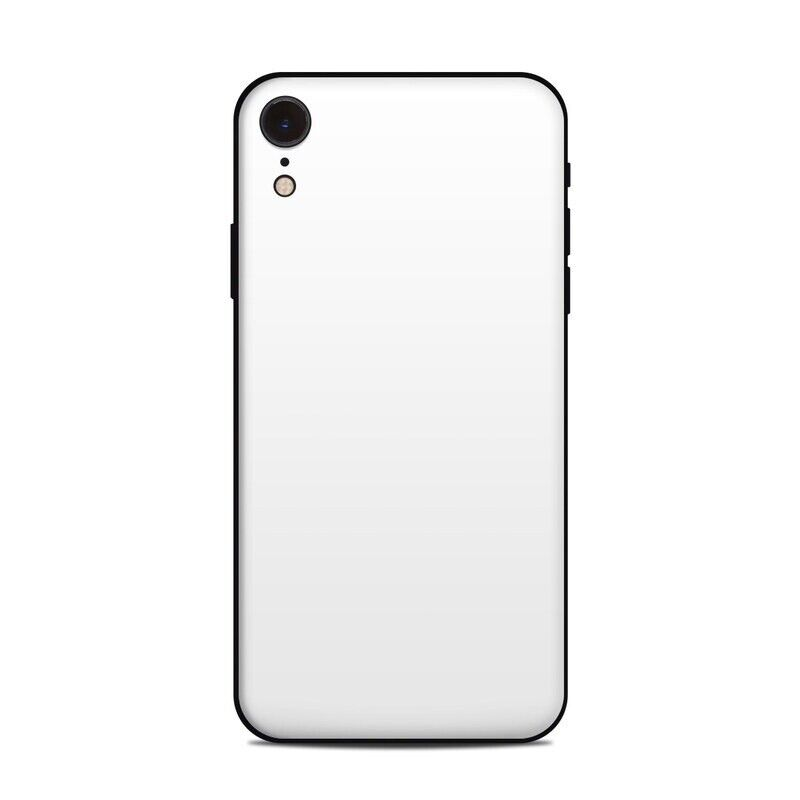 iPhone Xr Skin - Solid White - Sticker Decal