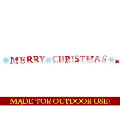 MERRY CHRISTMAS Set of Plastic Outdoor YARD SIGNS Standees Standups Holidays F/S](Christmas Yard Signs)
