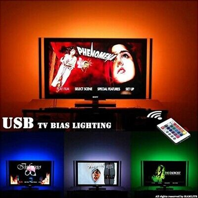 LED Strip Lights 5050 USB TV Backlight Kit RGB Color Changing with 24 Key Remote