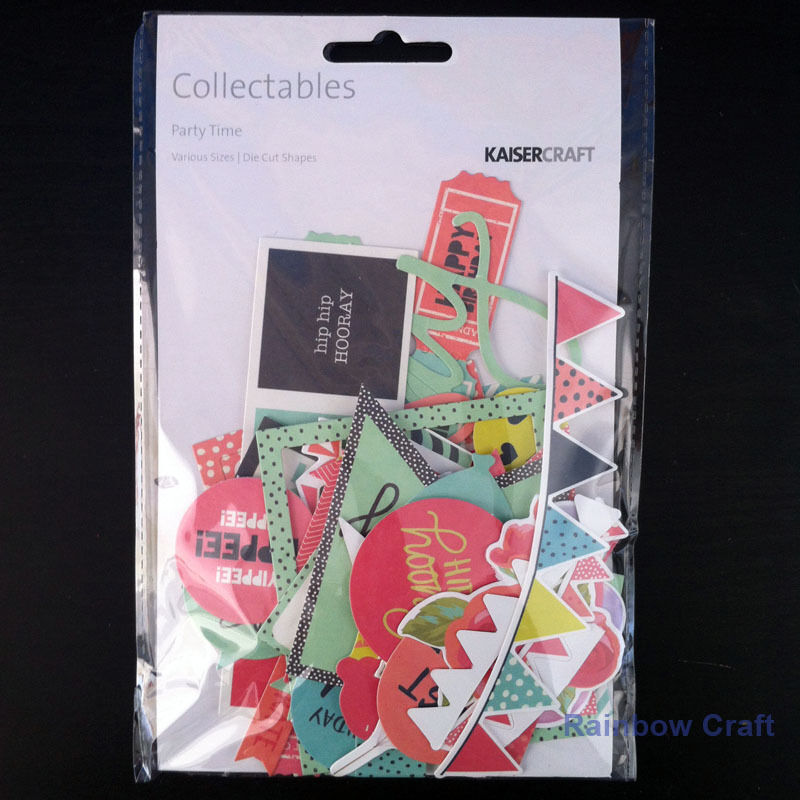 2016-2019 Kaisercraft Die Cuts Scrapbooking collectables 62 option Embellishment - Party time
