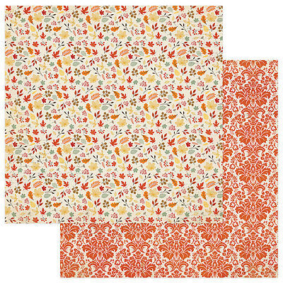 2 Sheets of Photo Play FALLING LEAVES 12x12 Scrapbook Paper - Falling Leaves (Leaves 12x12 Scrapbook Paper)