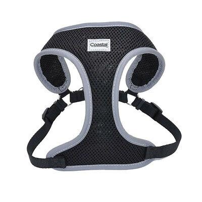 Coastal Pet Comfort Soft Reflective Wrap Adjustable Dog Safety Harness - Black