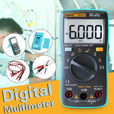 An8002 Digital Lcd Multimeter Voltmeter Temperature Acdc Current Resistance