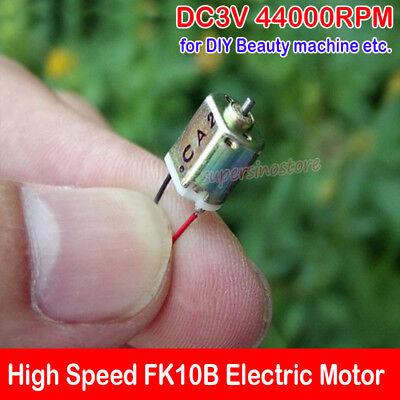 Micro Dc 3v 44000rpm High Speed 8mm Mini Fk10b Tiny Electric Motor Diy Parts