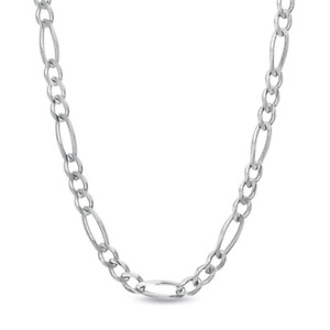 Men's 7.0mm Figaro Chain Necklace in Sterling Silver - 22""