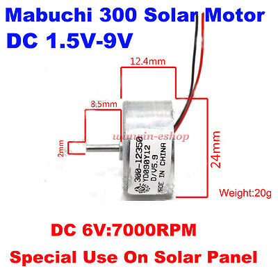 Micro Mabuchi 300 Solar Power Motor DC 1.5V-6V 7000RPM Mini Round Motor For Toy for sale  Shipping to Ireland