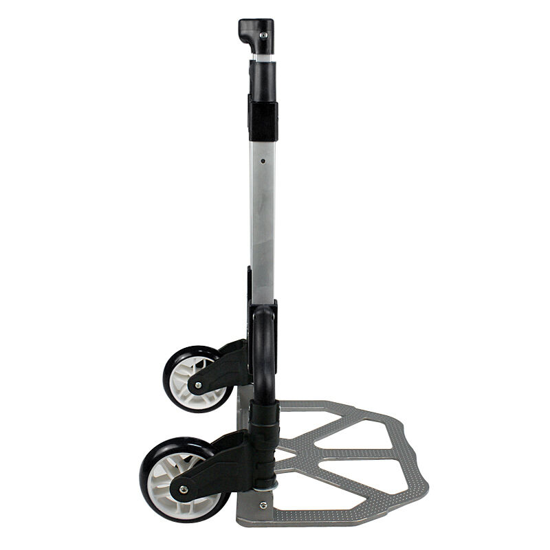 170 lbs Folding Aluminium Cart Luggage Trolley Hand Truck with Black Bungee Cord