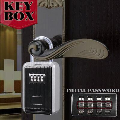 Lockbox 4 Digit Key Lock Box For Realtor Real Estate Safe Hook Organizer Storage