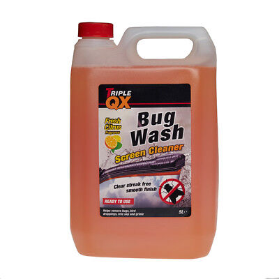 Triple QX Bug Wash Ready Mixed Summer Screenwash 5L / 5 Litres