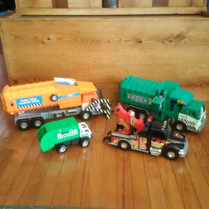 tonka and bruder trucks